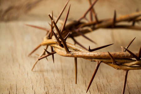 crown of thorns and cross isolated on white. easter