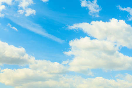 Nature background. Blue sky with white clouds Stock Photo
