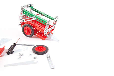 constructor toy metal isolated on white background