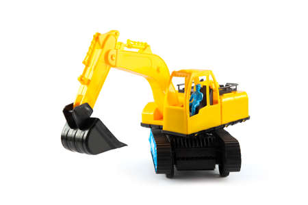 heavy excavator. Construction machinery on a white background. Imagens