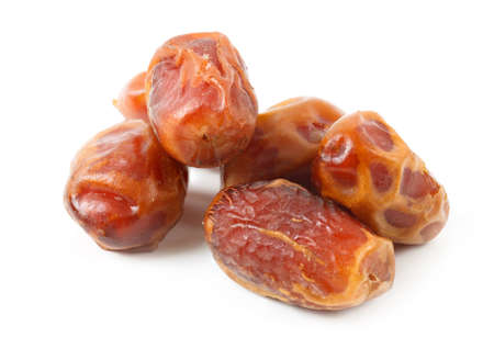Dates isolated on white background. Food ingredients