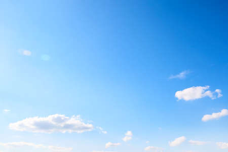 Air clouds in the blue sky. Nature background