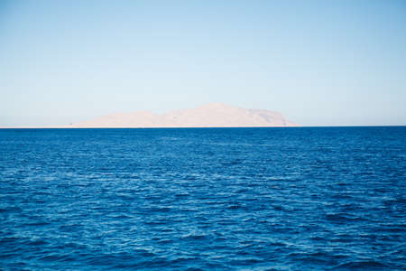 Red sea and island Tiran in Egypt. Sea view