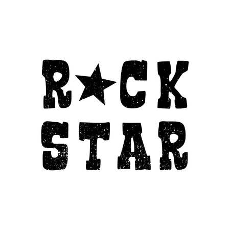 Rock stars grunge design on white background Ilustração