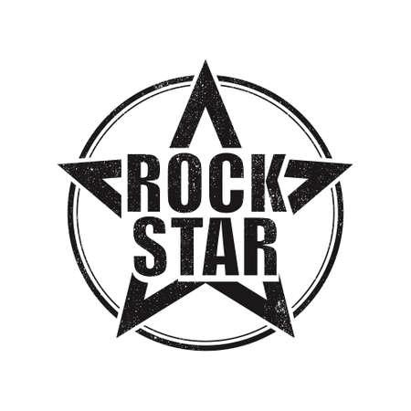 Rock stars grunge design on white background 向量圖像