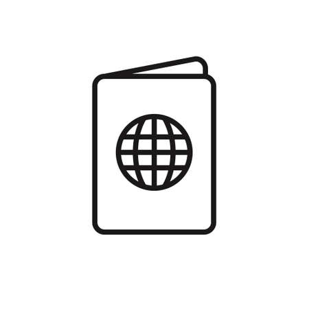 Passport Icon Vector Template on white background