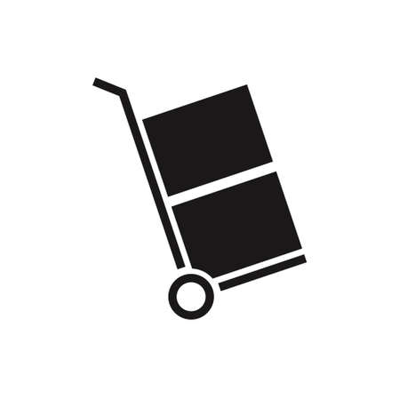 Hand truck icon. Shipping delivery symbol. Post box.