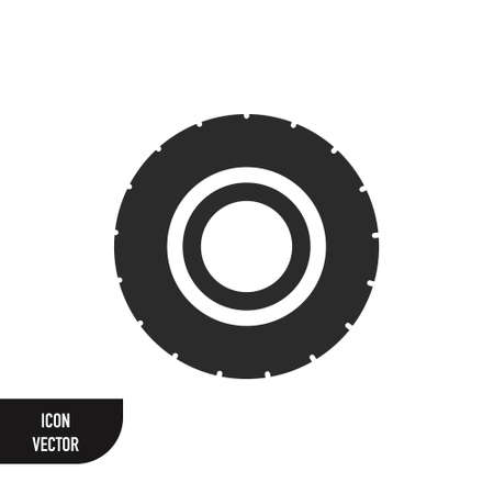 Road tire vector icon on white background