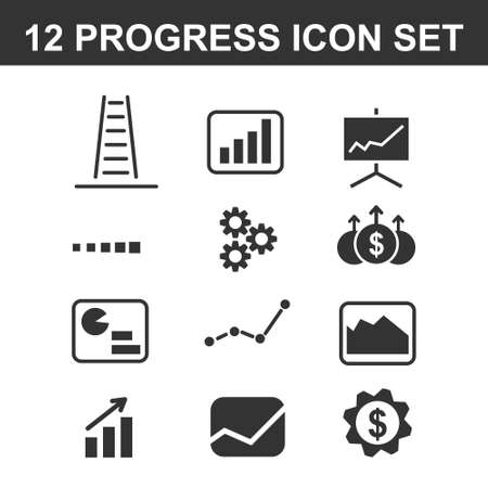 progress icon for web and mobile on white