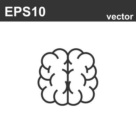 Icono de cerebro. Diseño simple del ejemplo del esquema del vector de la parte del cuerpo humano. Mente humana Ilustración de vector