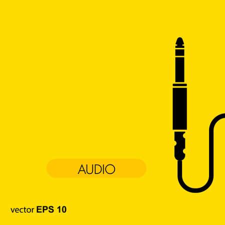 Audio cable icon. Vector concept illustration for design