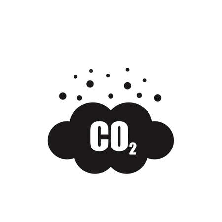 co2 emissions vector icon on white background  イラスト・ベクター素材