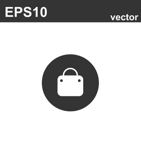 Shopping Bag Icon On White Background. Vector icon