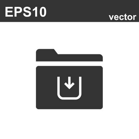 Folder Icon in trendy flat style on white. Vector illustration