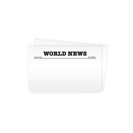 Blank newspaper template with copy space for news and text