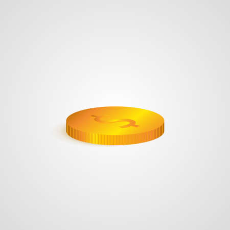 coin on white background. Vector background