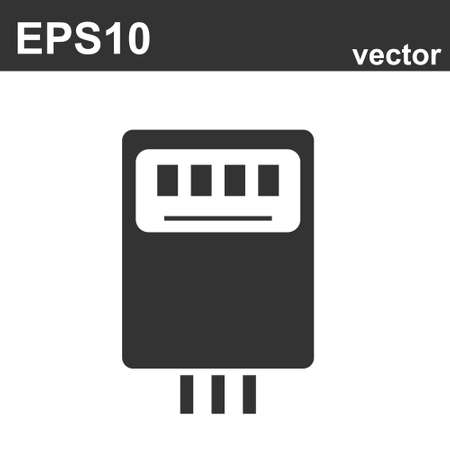 Vector de electricidad, icono de neón de medidor eléctrico. Elementos del conjunto de electricidad. Icono simple para sitios web, diseño web, aplicación móvil.