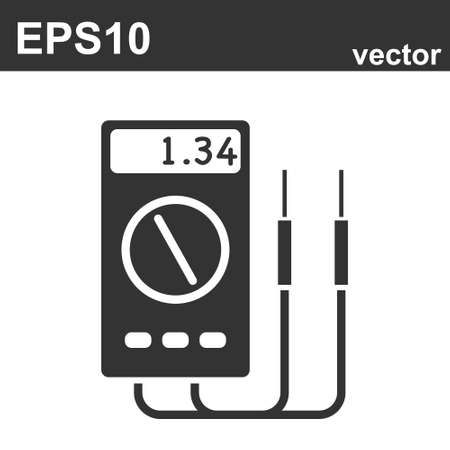 multi meter icon vector on white background, multi meter trendy filled icons from Electronics collection, multi meter vector illustration