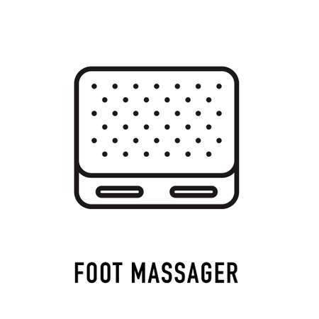 Orthopedic and trauma rehabilitation Vector Line Icon. Foot massage symbol in line style