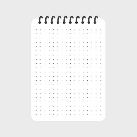 Creative vector illustration of realistic notebooks lined and dots paper page isolated Ilustração