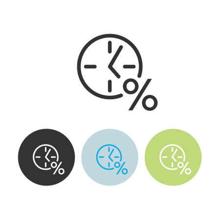 Clock sign. Loan Related Vector Line Icons. Contains such Icons as Interest Rate and more.