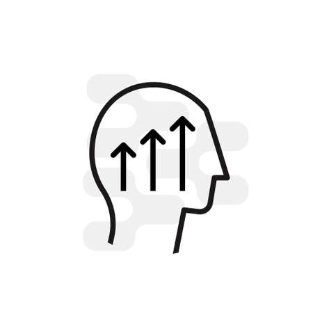Head icon. Flat line icons set of mental wellness, best friends society. Unique color flat design pictogram with outline elements. Premium quality vector graphics concept for web.