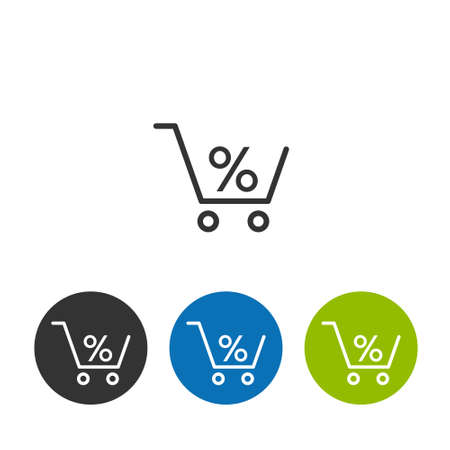 Cart sign. Loan Related Vector Line Icons. Contains such Icons as Interest Rate and more.  イラスト・ベクター素材