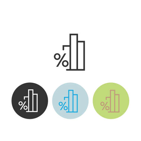 Diagram sign. Loan Related Vector Line Icons. Contains such Icons as Interest Rate and more. Illustration