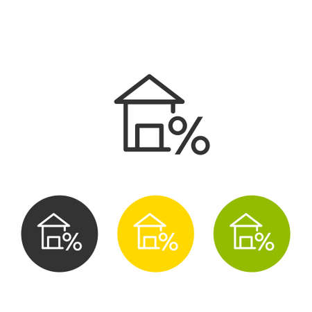 House sign. Loan Related Vector Line Icons. Contains such Icons as Interest Rate and more.