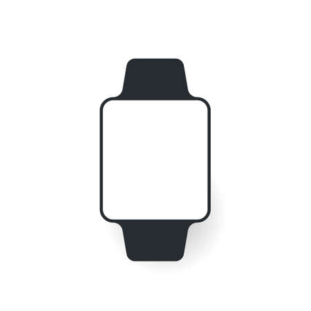 Smart watch. Vector flat style cartoon illustration isolated on white background Ilustrace