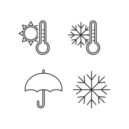Weather icon set on white background. Element for web design