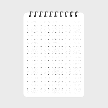 Creative vector illustration of realistic notebooks lined and dots paper page isolated Illustration