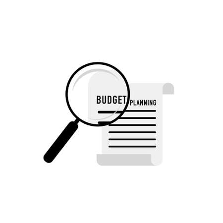 Budget planning concept in flat style. Modern design for money Budget, web sites, infographic. Vector illustration - Vector Ilustrace
