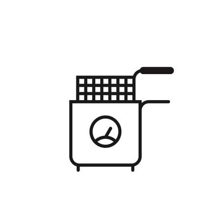 Fryer Icon on white. Deep Fryer. Vector Art