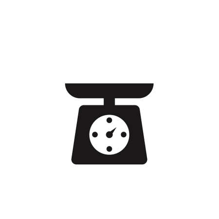 weight icon vector. scale sign on white background Ilustrace