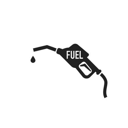 Gasoline pump nozzle sign. Fuel pump petrol station. Vector refuel service illustration