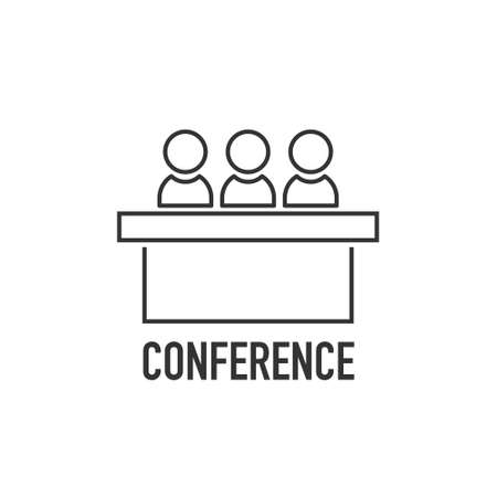 jury group committee icon. Vector element for info graphic. Conference