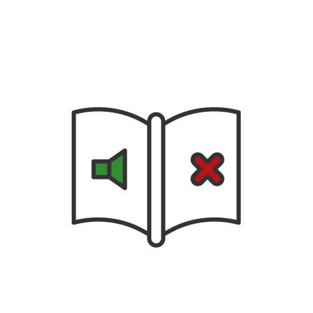 Muted book outline vector icon. flat simple element illustration from editable education concept isolated on white background