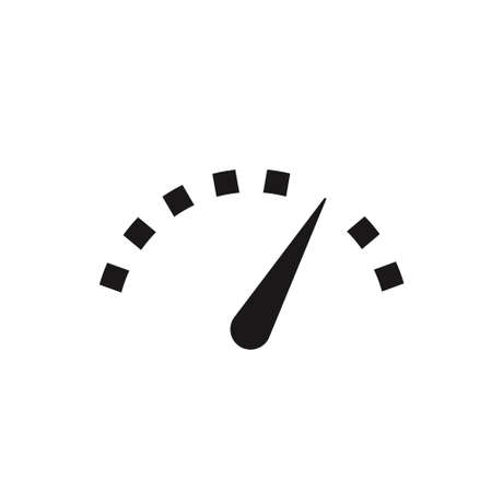 speedometer icon in flat style. Vector sign on white 向量圖像
