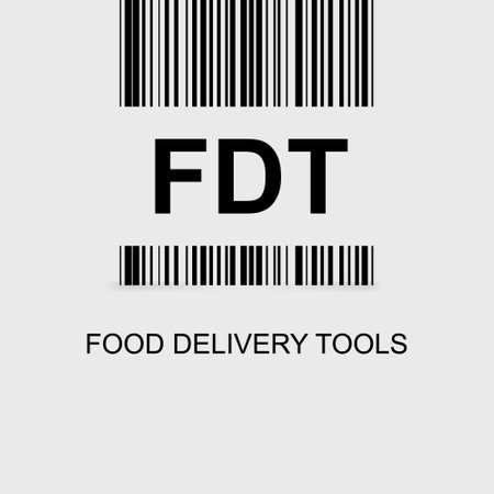 Creative logo FDT. Vector element on white background.