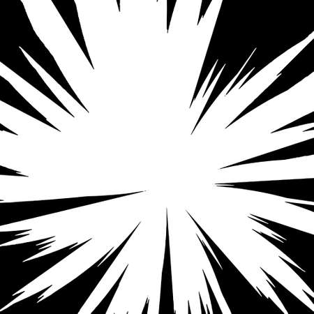 Black-white contrast Background of rays arranged in a circle. Illustration of a flash or glare. Concentration in the center of the composition. For various graphic designs. Vector illustration