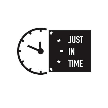 Just in time logo icon isolated on white background. Vector illustration.