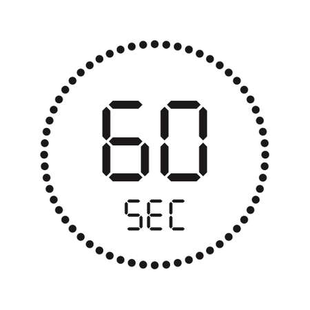 Timer countdown with seconds Icons. Stopwatch digital. Vector illustration