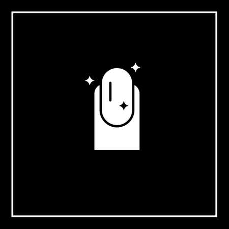 Nail polish removal vector icon on black background