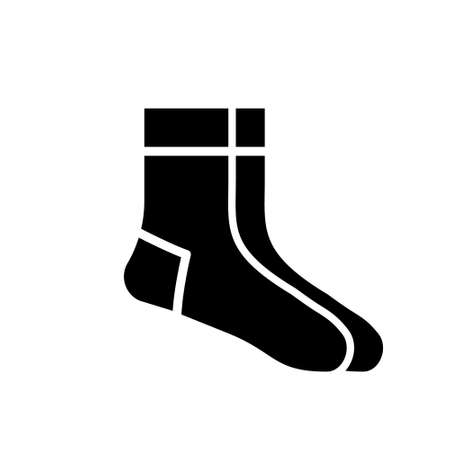Socks icon. Christmas socks vector illustration. Simple vector illustration
