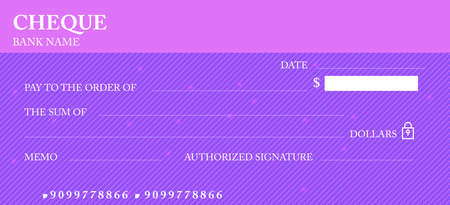Check, Check (Checkbook template). Guilloche pattern with abstract line watermark. Background hi detailed for banknote, money design, currency, bank note, Voucher, Gift certificate, Money coupon