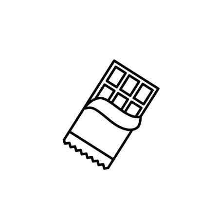 Chocolate line icon, opened chocolate - vector illustration eps10