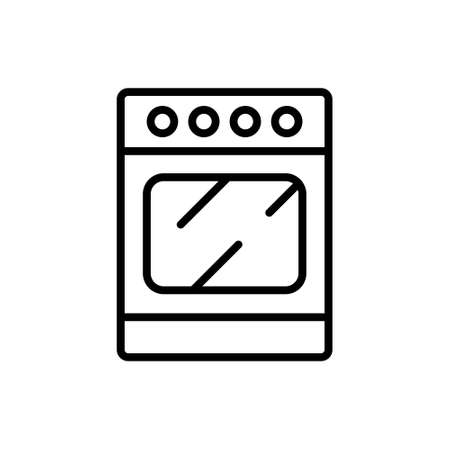 Stove line icon. Oven symbol, outline style pictogram on white background