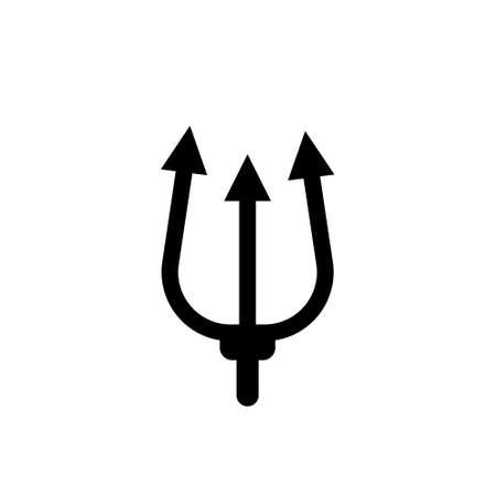 trident logo design. Pitchfork devil set. Trident devil icon 向量圖像