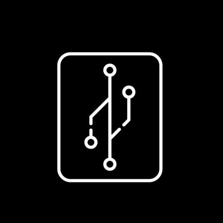 Version control icon. Trendy flat vector Version control icon on black background from Technology collection, vector illustration can be use for web and mobile, eps10